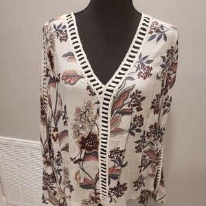 Charlotte Russe Boho Long sleeve with cut outs